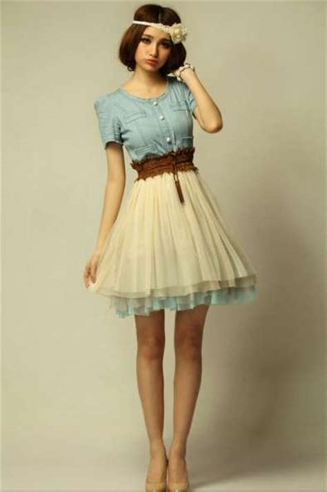 Dress Baby Doll Denim denim babydoll dresses feeling