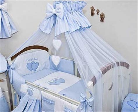 Bedding Set For Baby Cot Luxury 10 Baby Cot Bedding Set Cotbed Nursery Canopy Net Plain Ebay