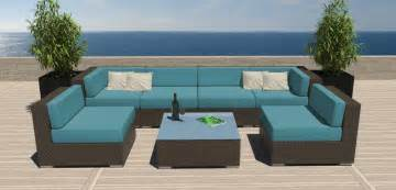 all modern outdoor furniture 7 pc modern outdoor all weather wicker rattan patio set
