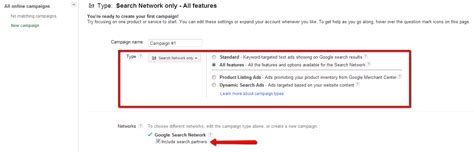 Find By Name Only Ppc Advertising Networks Choosing Network Settings In Adwords Wordstream