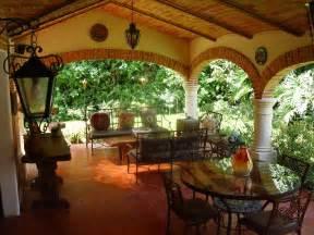 hacienda home decor the hacienda style terrace a great place to enjoy the