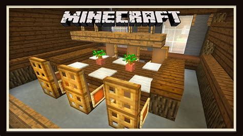 Minecraft Dining Table Minecraft Dining Room Furniture Design How To Build A House Part 8