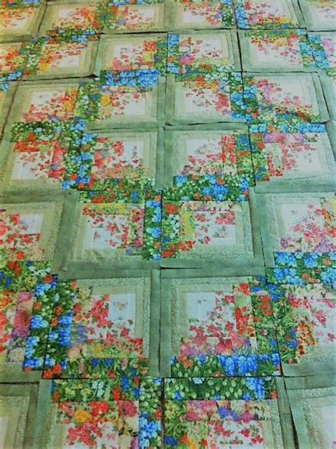 Log Cabin Patchwork Quilt Patterns - this log cabin quilt has a fresh new look quilting digest