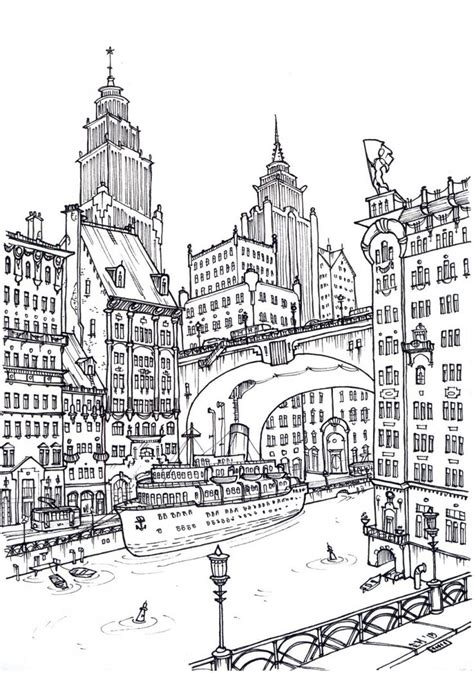 coloring pages for adults buildings 1000 images about colouring buildings houses