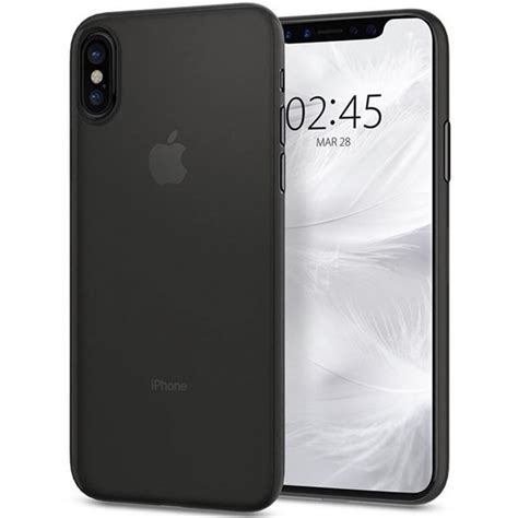 Spigen Apple Iphone X Liquid Matte Black 057cs22119 spigen liquid air black iphone x nejrychlejš 205 cz