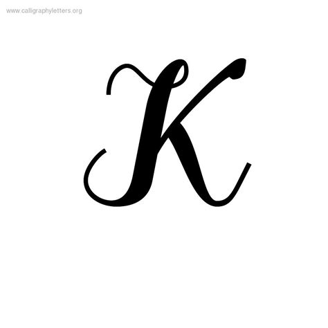 tattoo fonts letter k fancy cursive letter k letters
