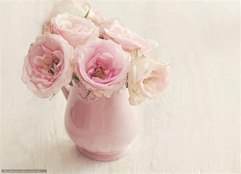 tlcharger fond d ecran vase roses fleurs fonds d ecran
