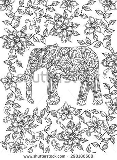 geometric elephant coloring pages paisley elephants to coloring pesquisa google coloring