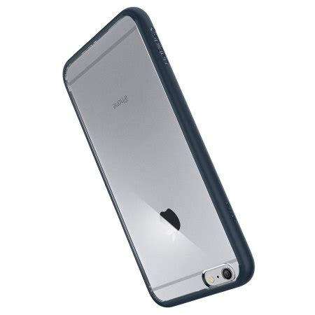Spigen Ultra Hybrid Iphone 6 Plus 6s Plus Clear spigen ultra hybrid iphone 6s plus 6 plus bumper metal slate mobilefun