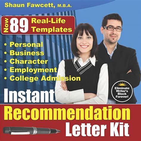 instant business letter kit instant recommendation letter kit revised ed clickbank