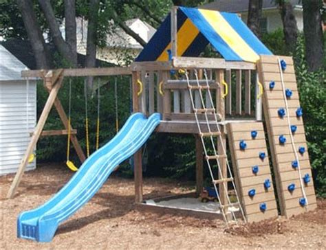 backyard playground equipment plans rock wall kit addition to fort swing set kits