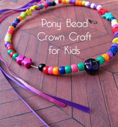 bead craft ideas for easy pony bead crown craft for where imagination