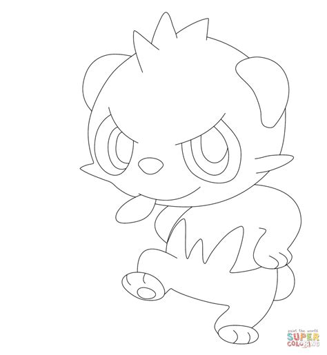 pokemon coloring pages fletchling 頑皮熊貓 著色