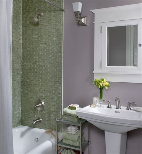 Colorful Ideas To Visually Enlarge Your Small Bathroom Small Bathroom Colour Ideas