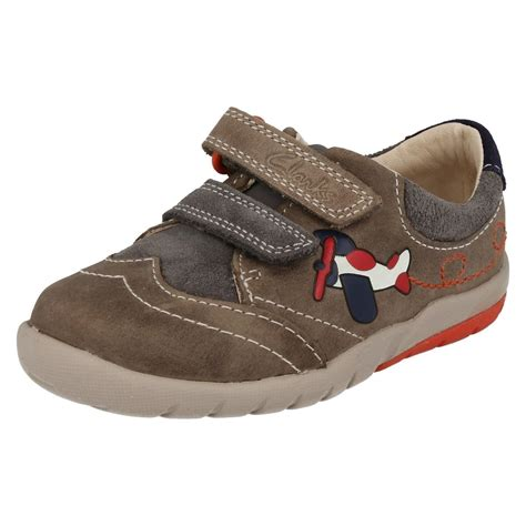 boys clarks walking shoes softly liam ebay