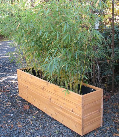 Narrow Planter Boxes by Bamboo Planters