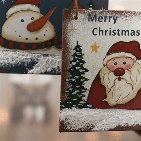 rustic merry christmas ornament sign wall art christmas  winter holiday crafts