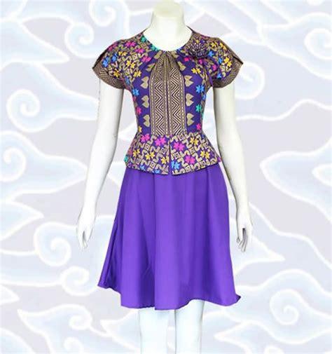Dress Wanita Warna Ungu baju dress batik modern wanita terbaru dm84 warna ungu