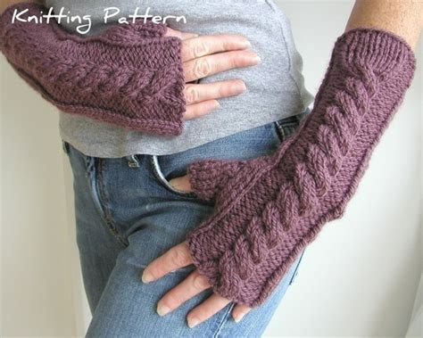 printable arm knitting directions hand and arm warmer fingerless gloves knitting pattern