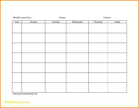 free editable weekly lesson plan template editable weekly lesson plan template choice image