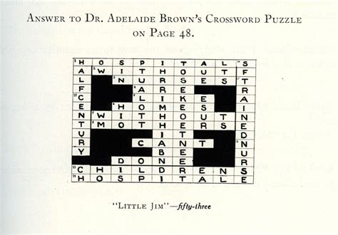 Light Brown Crossword by 1920 S Crossword Puzzle Answers Brought To Light