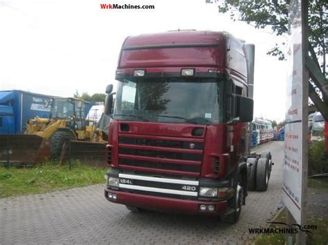 scania 4 series 124 l 420 1999 chassis truck photos