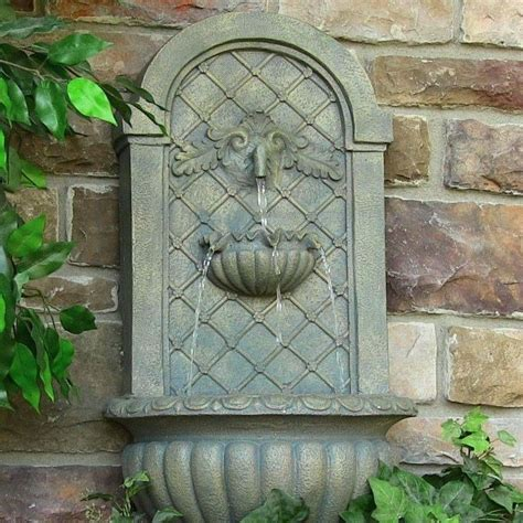 home water fountain outdoor garden wall mount electric venetian outside birdbath ebay