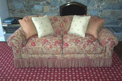 sofa with fringe skirt reed mccullough reupholstery sofa gallery take a look at