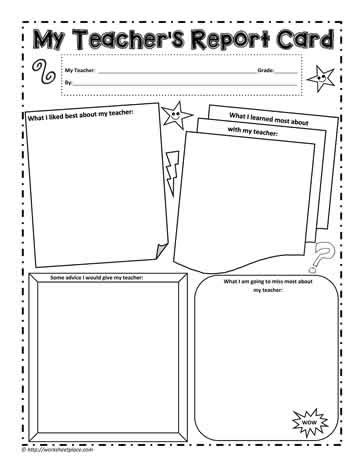end of year report card template 5th grade my s report card worksheets