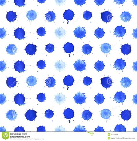 watercolor blobs seamless pattern stock vector image 51764869