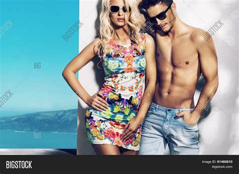 Cauple Senny happy fashionable on vacation day stock photo stock images bigstock