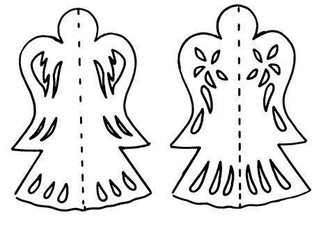 printable christmas angel decorations make paper ornaments