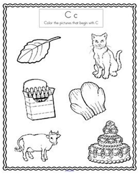 a color that starts with c alphabet beginning sounds coloring printables worksheets