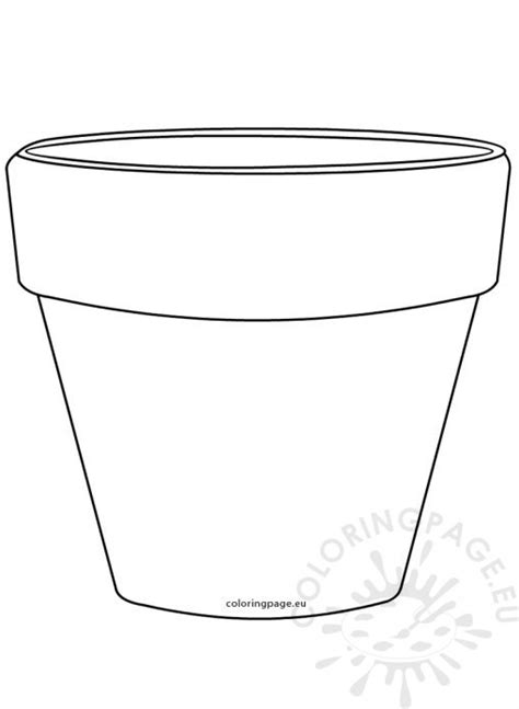 flower pot shaped card template printable flower pot templates printable 360 degree
