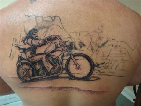 old ghost tattoo school biker designs biker david manns ghost