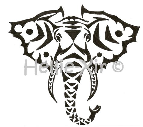 elephant tribal tattoo 20 tribal elephant tattoos ideas