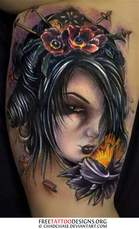 tattoo geisha face geisha tattoos