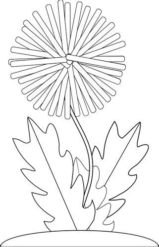 Vector tekening van paardebloem bloem voor boek in kleur