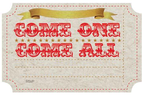Free Printable Circus Party Invites Nooshloves Free Printable Ticket Invitation Templates