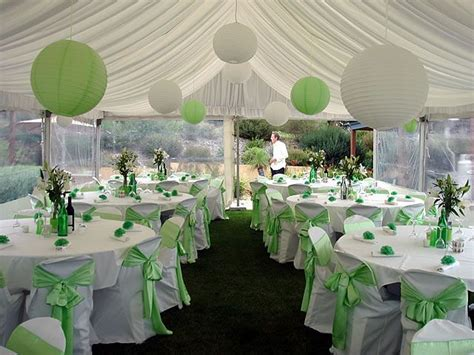 Green Decorating Idea by Wedding Centerpieces White And Green Decoration Ideas