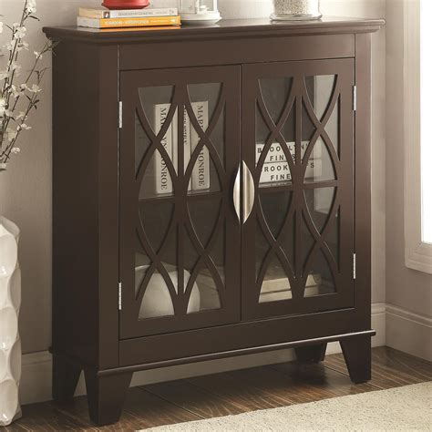 accent cabinets with doors 950311 glass doors cappuccino accent cabinet from coaster