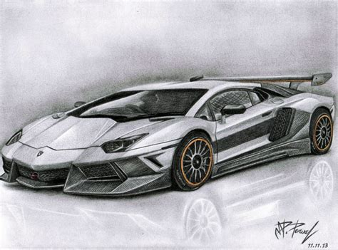 lamborghini aventador sketch drawn lamborghini hard pencil and in color drawn