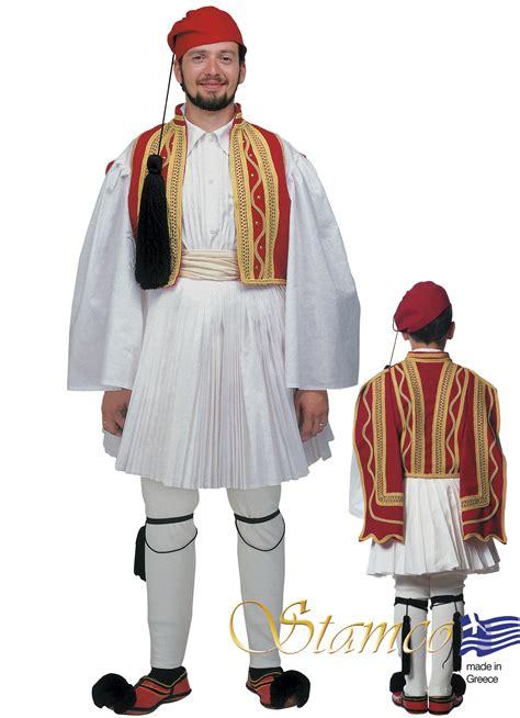 greek traditional costume evzonas man red 642008 www
