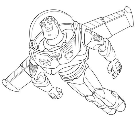 free coloring pages of buzz light year