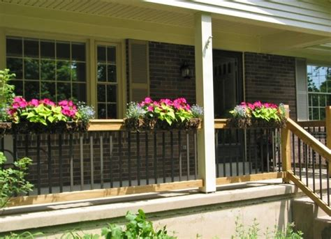 window box planters for railings 17 best images about planters for railings on