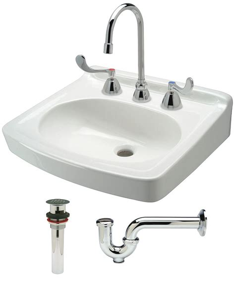 Bathroom Sink Plumbing Kit Zurn Vitreous China Wall Bathroom Sink Kit With Faucet 15