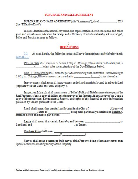 Agreement Letter For Buying Land Land Sale Purchase Agreement Sle For Microsoft Word