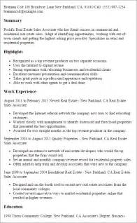 Real Estate Sales Associate Sle Resume professional real estate sales associate templates to showcase your talent myperfectresume
