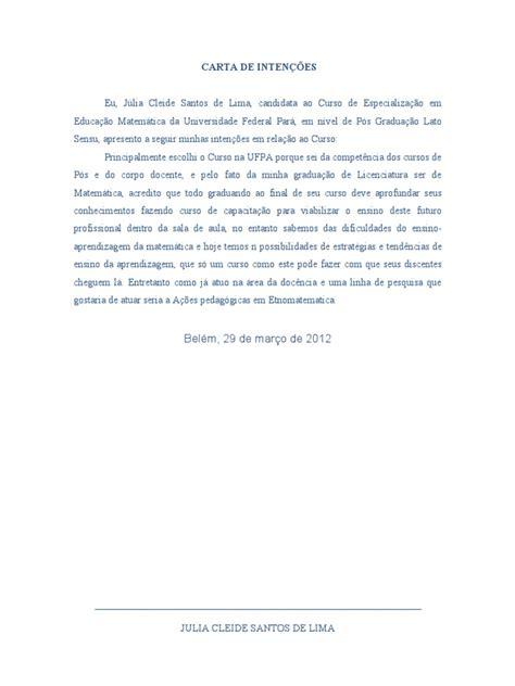 carta de solvencia modelo modelo de carta de intencoes