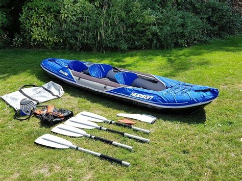 inflatable boat kent inflatable kayak sevylor hudson 2 1 used only 3 times